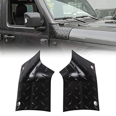 JeCar Cowl Body Armor Outer Corner Guards Exterior Accessories for 2020-2020 Jeep Wrangler JL JLU Sport Sahara Rubicon & 2020 Jeep Gladiator JT, Black: Automotive