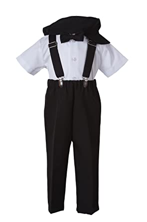 b53758ad15b27d Boys Black Suspender Pant Set for Baby and Toddlers (6 to 12 Months)