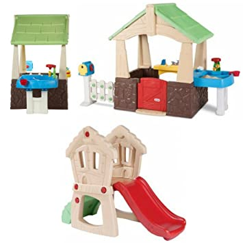 kids home and garden deluxe playhouse hide and seek climber little tikes kids - Little Tikes Home And Garden Playhouse
