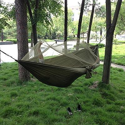 Hamac Portatif De Camping De Parachute Avec Le Tissu De Parachute De Moustiquaire Pour Extérieur