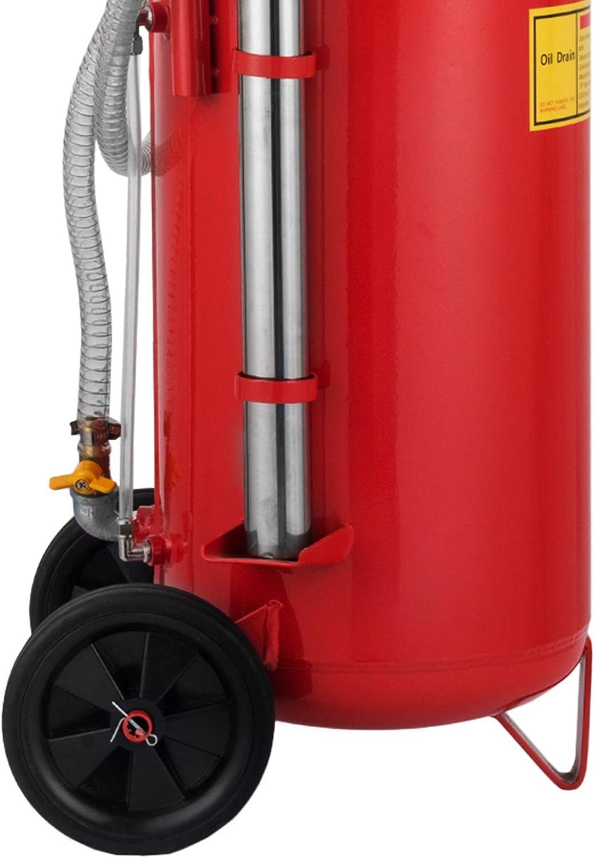 Mophorn Extracteur Huile Moteur Pompe dAspiration Huile 8-10 Bars Extracteur Pneumatique avec Le Syst/ème en Circuit Ferm/é Aspirateur Dhuile/Moteur 22.7L