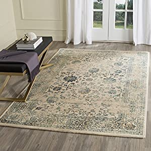 Safavieh Evoke Collection EVK510F Vintage Oriental Beige and Turquoise Area Rug (3
