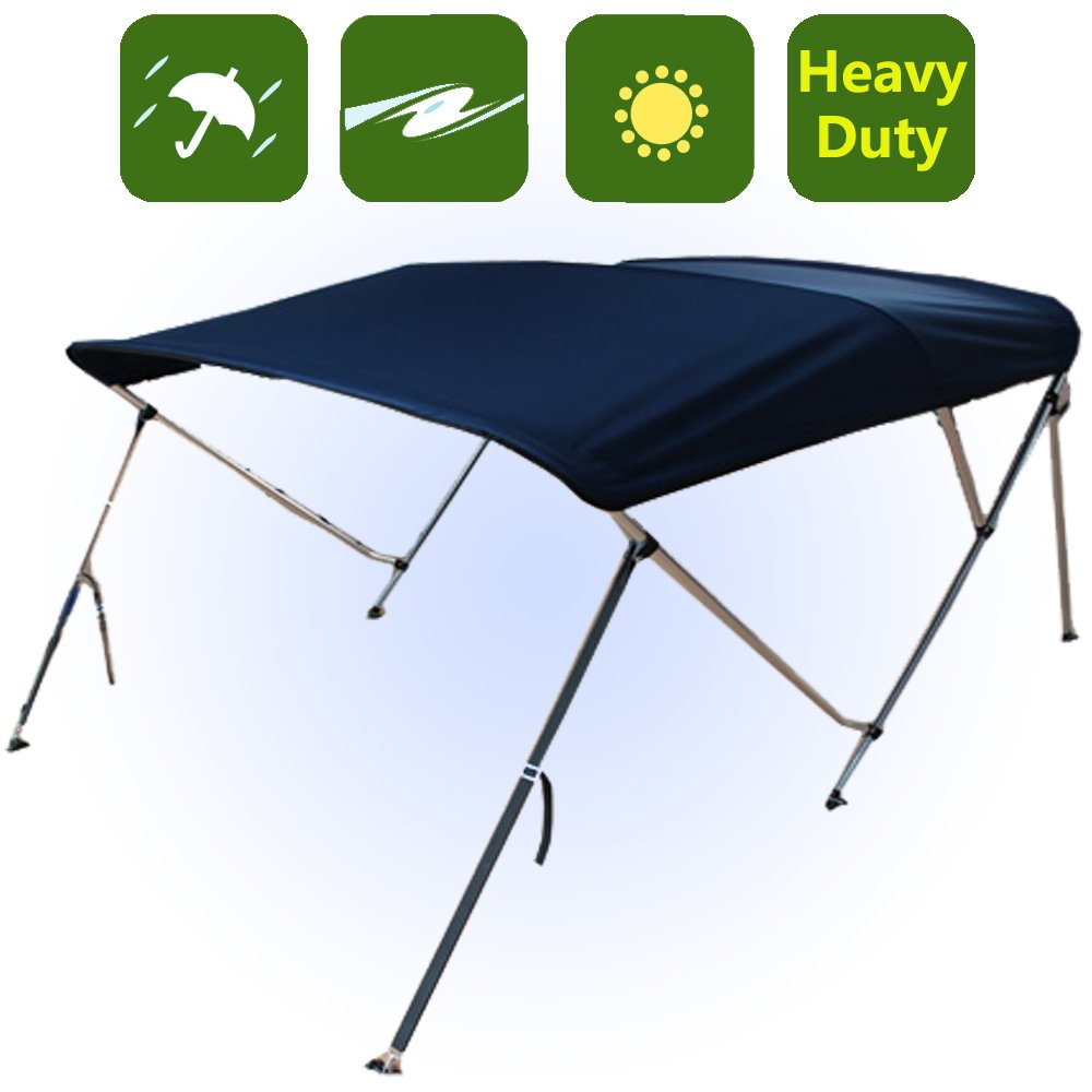RockyMRanger 3 Bow Boat Navy Blue Bimini Top Sun Canopy Cover 6 ft Length 67''-72'' Beam YB3N2