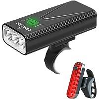 EBUYFIRE Oplaadbare led-fietslamp, USB, 3000 lumen, 5200 mAh, krachtig, fietslamp voor en achter, 3 modi, IPX5…
