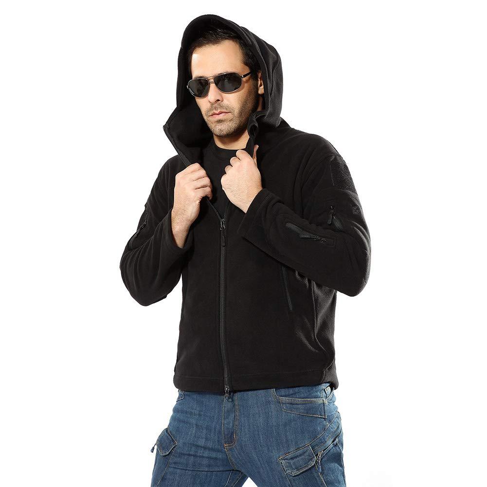 TOUCENGP Hombress Hooded Forro Polar A Prueba De Viento T/érmica Espesar Suave Al Aire Libre