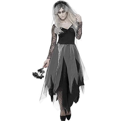 NET TOYS Disfraz Novia Zombi - L (ES 44/46) | Vestido Esposa ...