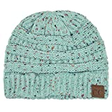ScarvesMe C.C Beanie Cable Knit Confetti Beanie Thick Soft Warm Winter Hat - Unisex (Mint)