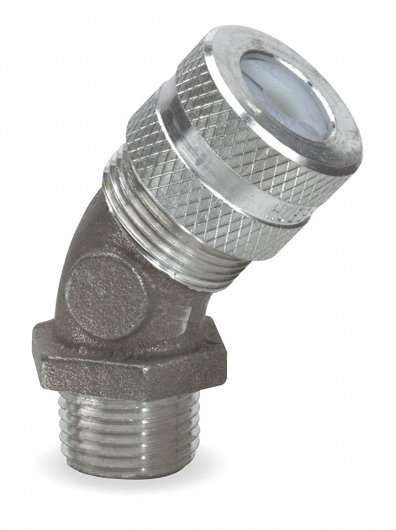 Aluminum Cord Connector, Conduit Size: 3/4, Cord Dia. Range: 0.63'' to 0.75''