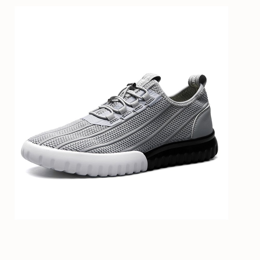 YIXINY Deporte Zapato Personalidad Calzado De Hombre Deportes De Ocio Zapatillas De Correr Transpirable Primavera Y Verano Negro / Gris / Blancoo ( Color : Gris , Tamaño : EU39/UK6/CN39 ) EU39/UK6/CN39|Gris