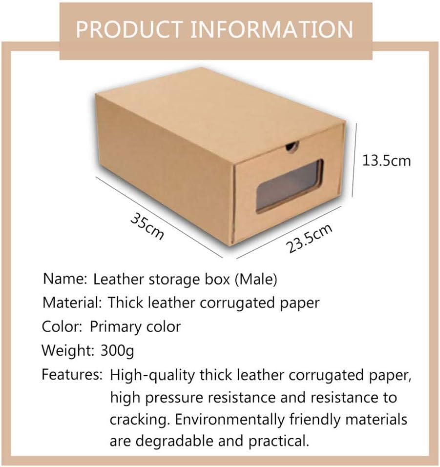 N/X cajón de cartón Transparente Caja de Zapatos receptáculo economía de Espacio Organizador de Almacenamiento Caja contenedor3pcs_Hombres Zapatos