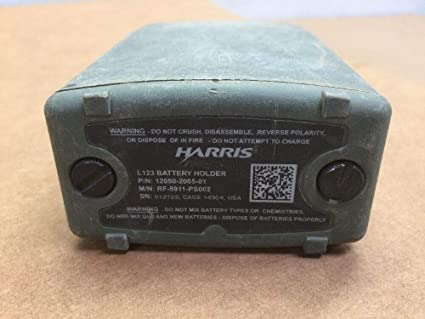 Amazon com : Harris L123 Lithium Radio Battery Holder / Tray RF-5911