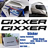 2014 suzuki gsxr 1000 stickers - Black Gixxer Sticker Helmet Body Fairing Pipe Decal Laptop Notebook Emblem For Suzuki GSXR 600 750 1000 1300 Hayabusa