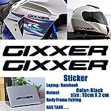Black Gixxer Sticker Helmet Body Fairing Pipe Decal Laptop Notebook Emblem For Suzuki GSXR 600 750 1000 1300 Hayabusa