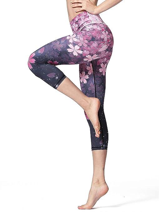 L.T.J Mujer Mujeres Impreso Yoga Capri Leggings ...