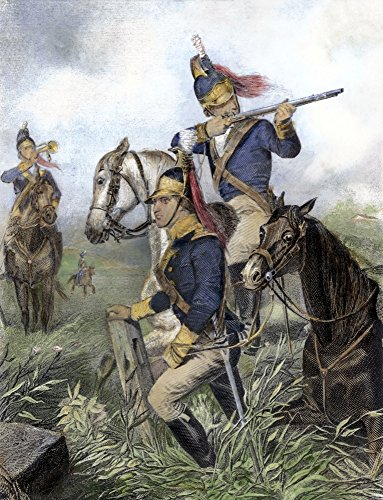Guilford Courthouse 1781 Namerican Cavalry Under The Command Of Henry Lee Engage British Troops At Guilford Courthouse North Carolina During The American Revolutionary War 15 March 1781 Line -