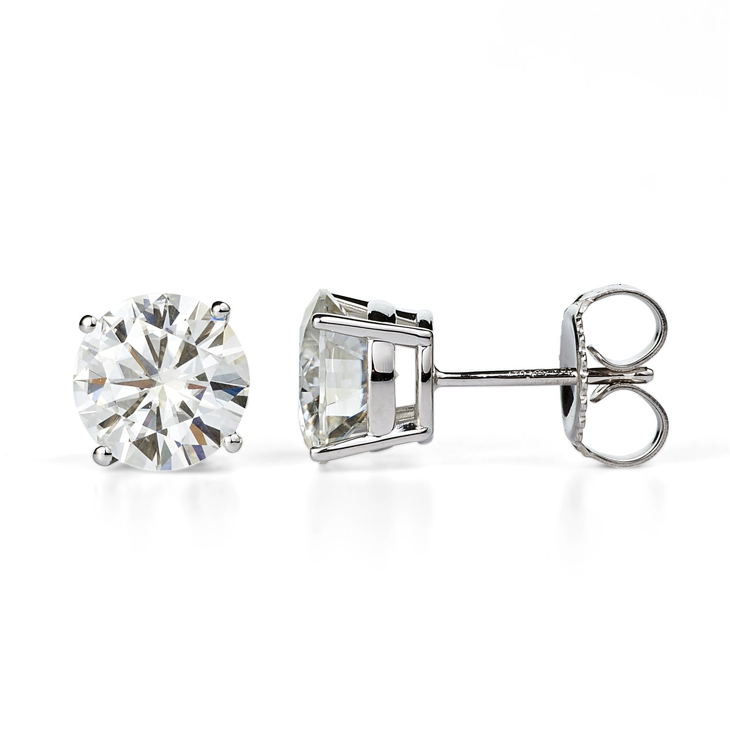 Forever Classic 7.5mm Round Moissanite Stud Earrings, 3cttw DEW By Charles & Colvard by Charles & Colvard
