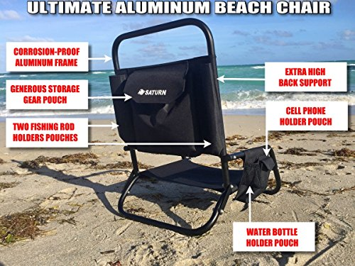 Superieur Amazon.com: Saturn Aluminum Lightweight Folding Beach Chair, Fishing Seat,  SUP Paddle Board Seat, Kayak Seat, Boat Chair.: Kitchen U0026 Dining