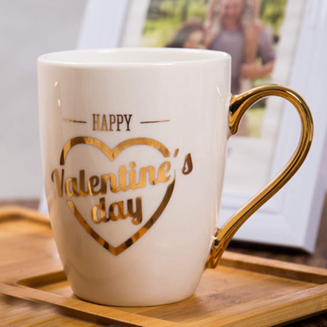 BonZeaL Valentine Mug Ceramic Coffee Mugs Tea Cups Birthday Gifts For Girlfriend Boyfriend Husband Wife Quirky Her Him Boys Girls Couple
