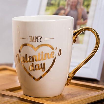 BonZeaL Valentine Mug Ceramic Coffee Mugs Tea Cups Birthday Gifts For Girlfriend Boyfriend Husband Wife Quirky