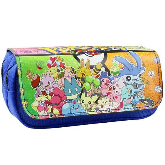 Bolsa de lápices de dibujos animados Pokemon Pikachu Estuche de lápices Útiles escolares Papelería Bolsa de monedas Bolsa de cremallera Como se muestra en la figura 20X9X6.5cm: Amazon.es: Oficina y papelería