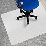 Office Marshal Eco Office Chair Mat - 48'' x 78'', Multiple Sizes - BPA-Free | Opaque - Suitable Only for Use on Low and Medium Pile Carpets (Max. Pile: 0.6'')