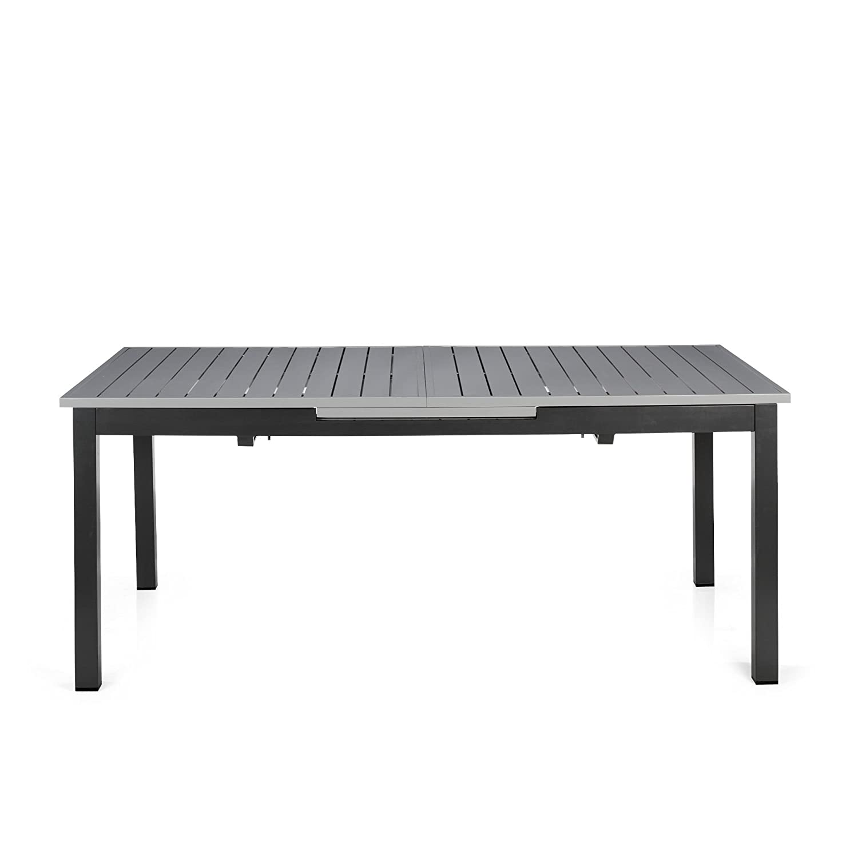 Felton Table de jardin à allonges en aluminium Gris - Alinea ...