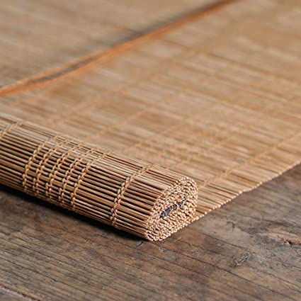 Persiana de bambú Persiana Exterior Enrollable, Persiana Enrollable con Protección UV del 80% para Patio Al Aire Libre Cubierta De Garaje Porche Pérgola Balcón, 85cm / 105cm / 125cm / 145cm De
