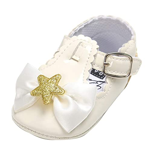 Baby Children Girls Beading Princess Crown Gold Shoes Flats Soft Sole Footwear