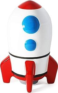 Hapinest Ceramic Piggy Bank for Boys, Rocket