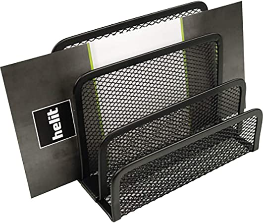 helit Briefständer Papier Unterlagen Zettelbox Büro Mesh Drahtmetall schwarz