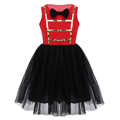 FEESHOW Little Girls Show wear Circus Ringmaster Costumes Halloween Fancy Dress up Outfit Tank Top Tutu Skirt: Clothing