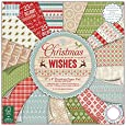 First Edition - Blocco di fogli per decoupage, motivo: Christmas Wishes, 20 x 20 cm, multicolore