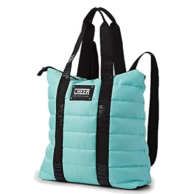 Justice Turquoise Cheer Quilted Backpack Tote: Shoes