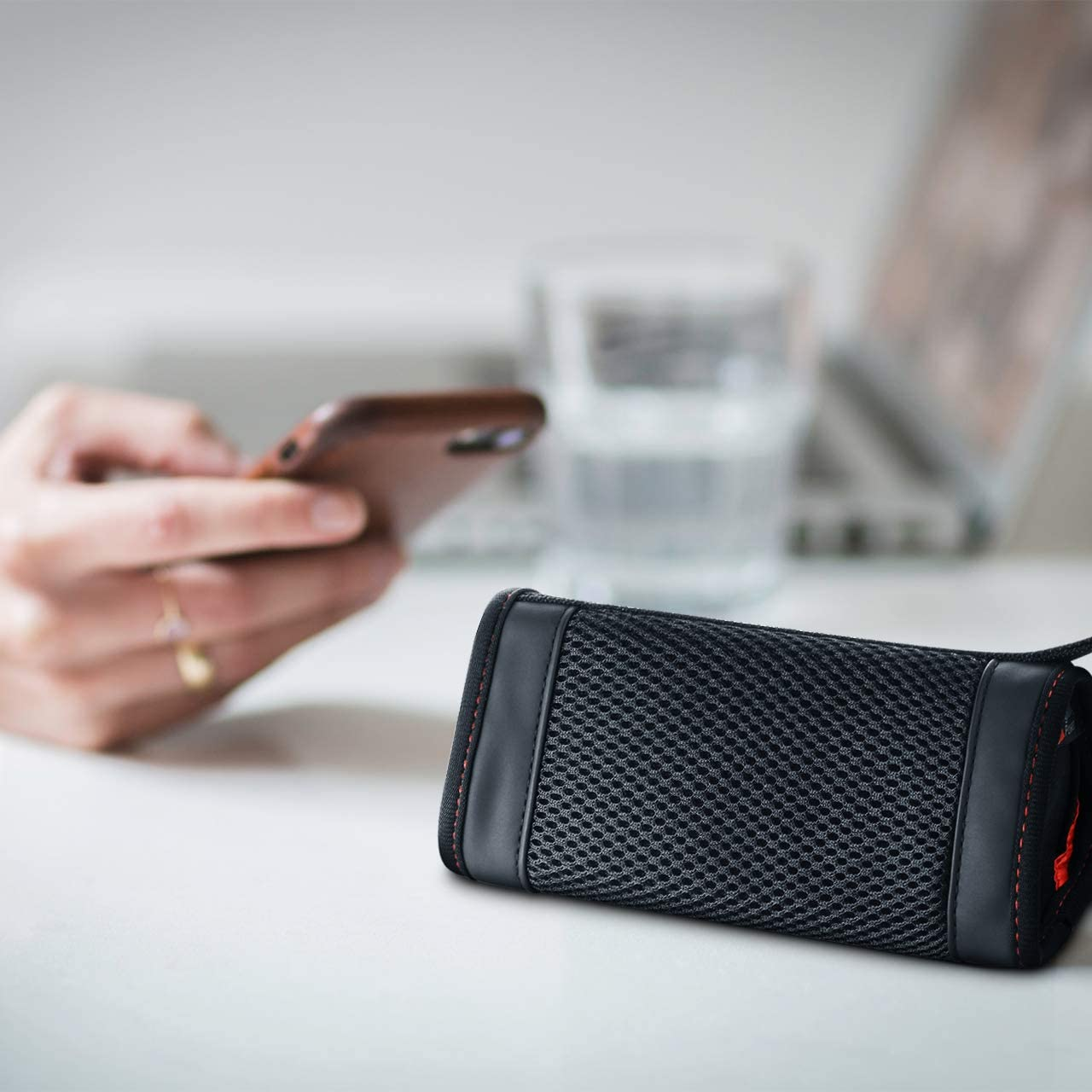 TXEsign Neoprene Mesh Carrying Soft Case Cover Compatible with OontZ Angle 3 3rd Gen // Angle 3 Ultra//OontZ Angle 3 Plus Portable Wireless Bluetooth Speaker