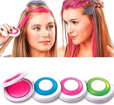 Tinte temporal del polvo del color del pelo de las mujeres lavar hacia fuera la fiesta del bricolaje del pelo de la tiza