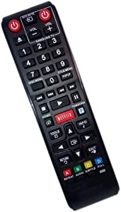 Replaced Remote Control Compatible for Samsung BD-E5400/ZA BDE5300/ZA BDE5400ZC BDEM53C BD Blu-Ray DVD Player