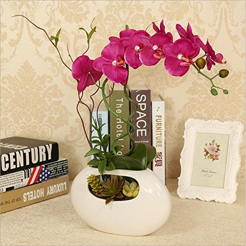 Flower Arrangement with Decorative Vase Artificial Orchid...