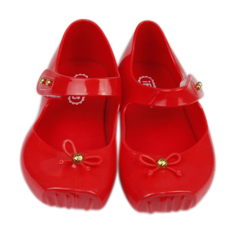 iFANS Girls Cute Bow Toddler Kids Mary Jane Flats Ballet Shoes IF-SliBlt