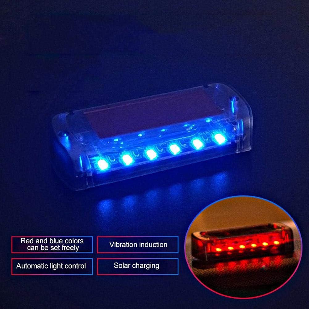 Bestlle Hazard lights for vehicles 6 LED Anti-Theft Flashing Security Light Strobe light Car Solar Power Simulated Alarm Warning lamp
