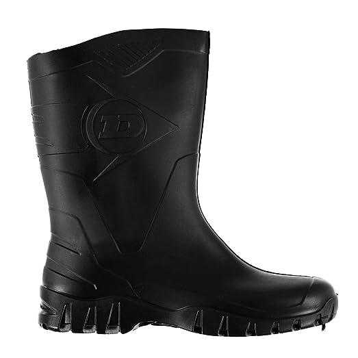 Mens Genst Half Welly Wellies Wellington Boots Black 8 (42)