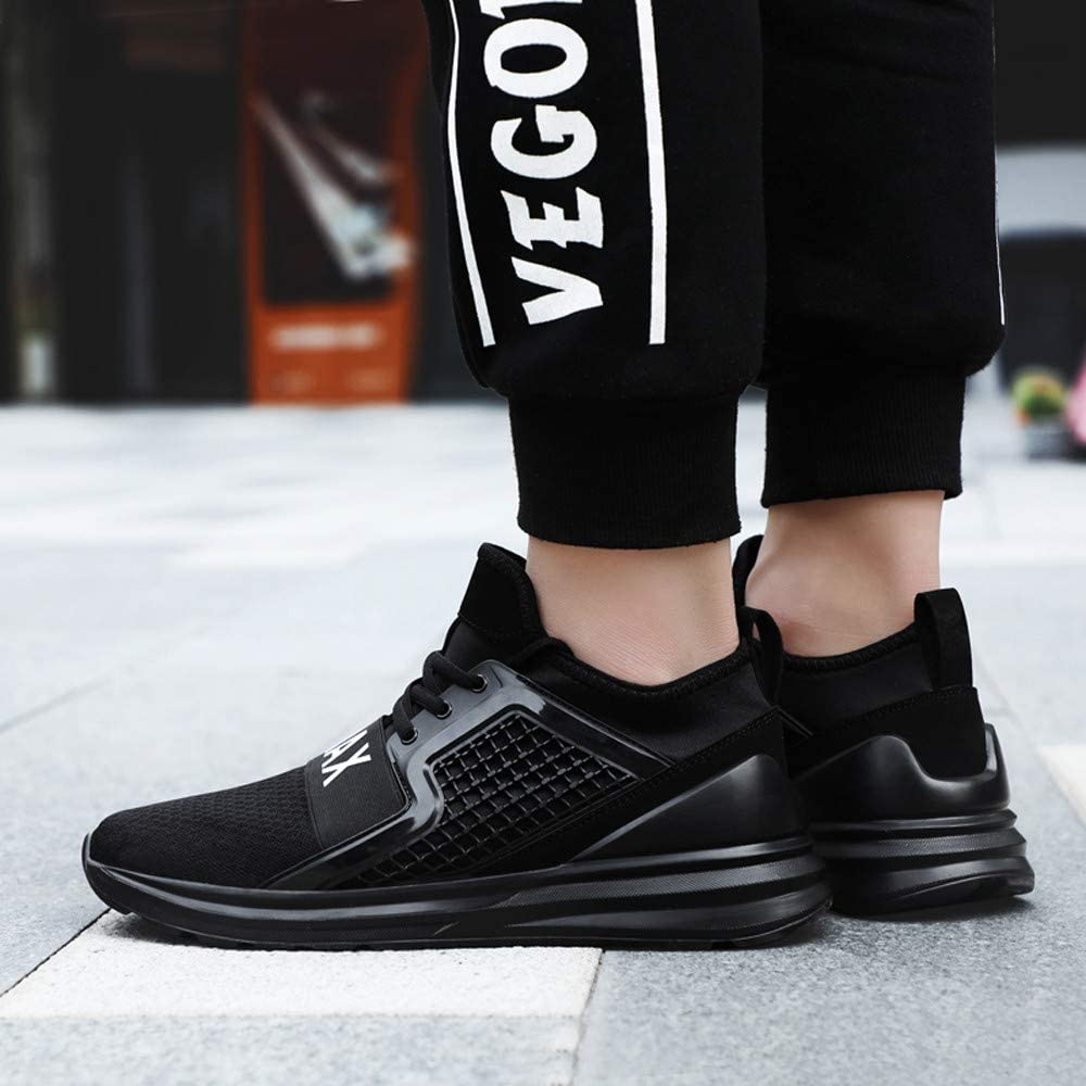 Hunzed Men【Breathable Lightweight Running Shoes】 Men Fashion Mesh Soft Sole Casual Athletic Lightweight Sneakers