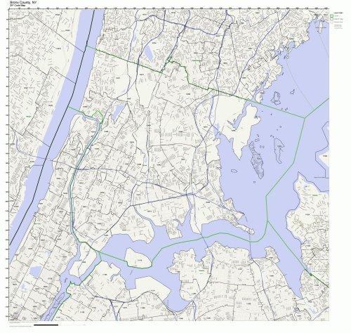 Bronx County, New York NY ZIP Code Map Not (New York Zip Code Map)