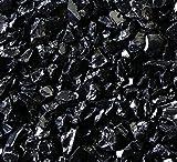 Fireplace Glass Rocks, BLACK ~3/8-1/2'', 40 LBS