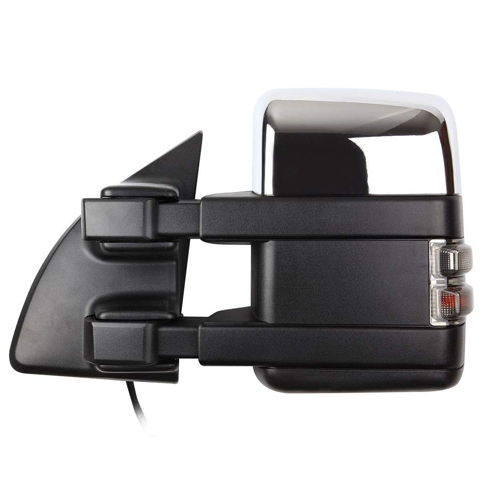 SCITOO Towing Mirrors Exterior Accessories Mirrors fit for 2003-2007 Ford F250 F350 F450 Super Duty Series Truck with Power Adjusted Heated Turn Signal Light Light