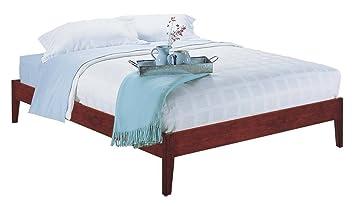 modus furniture sp18f5 newport simple platform bed queen cordovan