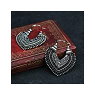 Fashion Women's Boho Ethnic Drop Dangle Vintage Earrings Jewelry Bronze Silver EW sakcharn (2 #,...