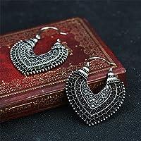 ERAWAN Fashion Womens Boho Ethnic Drop Dangle Vintage Earrings Jewelry Bronze Silver EW sakcharn (2 #, Antique Silver)