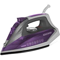 Black & Decker BD BXIR1801IN 1800-Watt Steam Iron with Detachable Tank and Ceramic Sole Plate Coating (Purple)