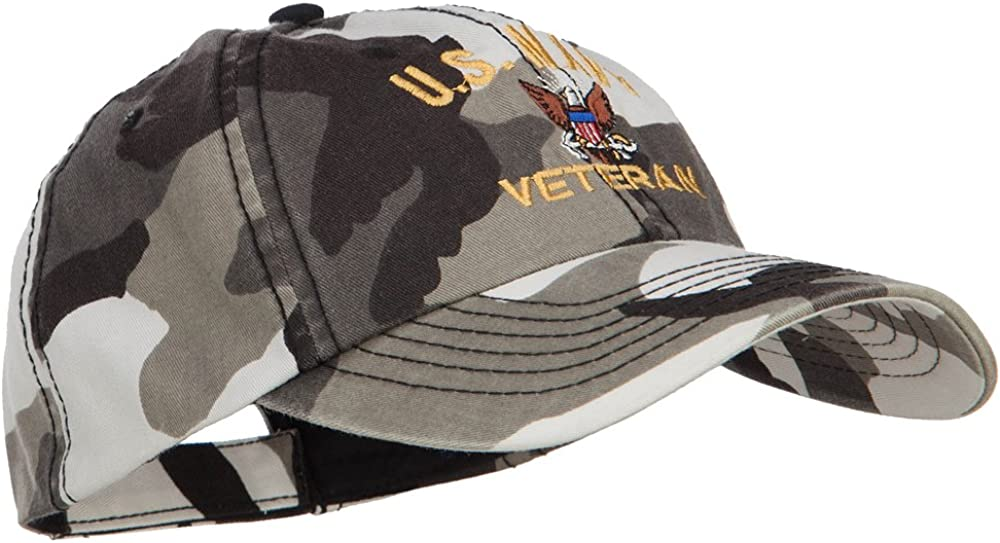 e4Hats.com US Navy Veteran Military Embroidered Enzyme Camo Cap