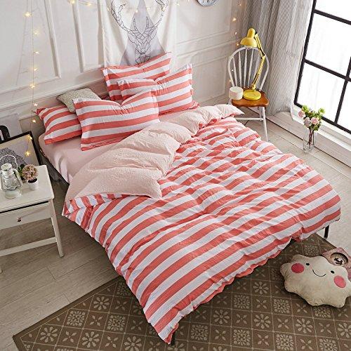 yiweni 4ピースフルミニマリスト1.5 / 1.8 Mベッドツインベッド The streaks fads - Pink 9928524125652 B076FB9M22 1.8 Bed Linen a 200*230cm 230*250cm Pillow 48*74{2 The streaks fads - Pink